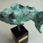 Bronzen beeld vis
