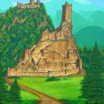 Schilderij Ruine