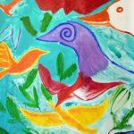 Schilderij Vreemde Vogels