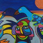 Schilderij abstracte kunst