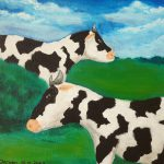 Schilderij koeien