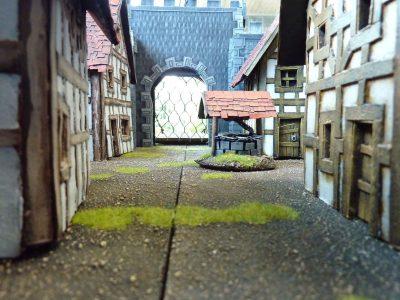 Fantasie kasteel - Binnenplaats