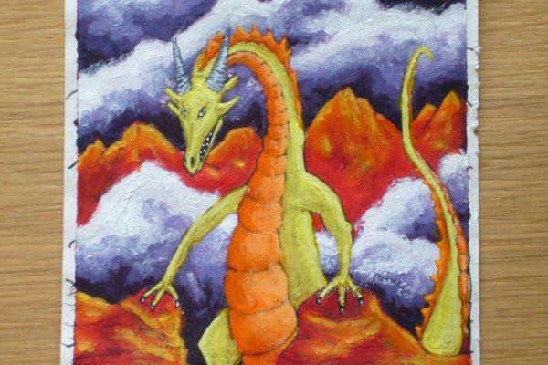 Schilderij Draak