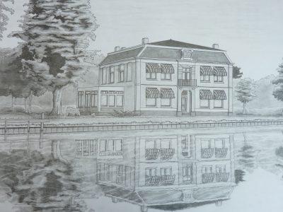 Ink tekening huis
